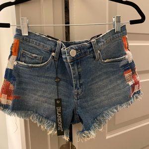 Blank NYC denim shorts boho print